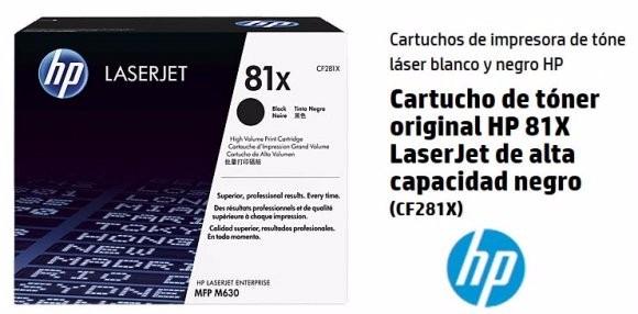 Toner Hp 81x Laserjet Original 25 000 Paginas Cf281x 81x