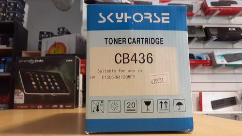 toner hp alternativo skyhorse cb436 (p1505/m1120mfp)