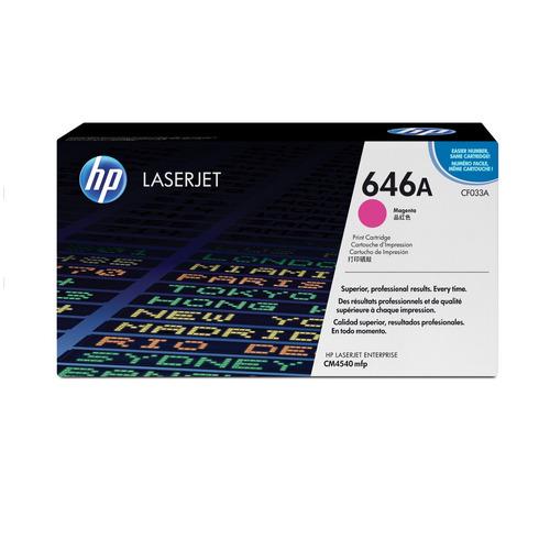 toner hp cf033a magenta 646a laserjet cm4540 12.500 paginas
