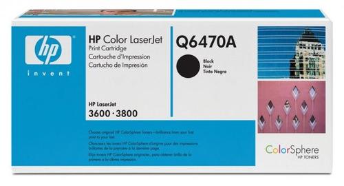 tóner hp q6470a - negro - para laserjet 3600 - 3800 y cp3505