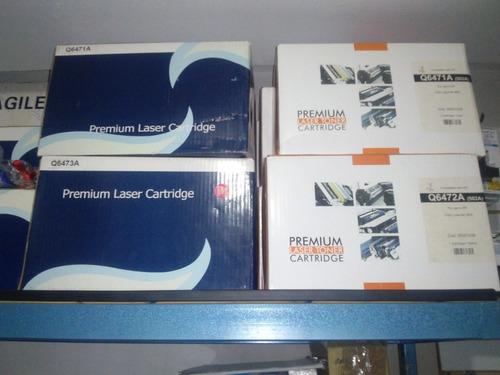 toner hp q6471a,  hp q6472a, hp q6473a compatibles premium