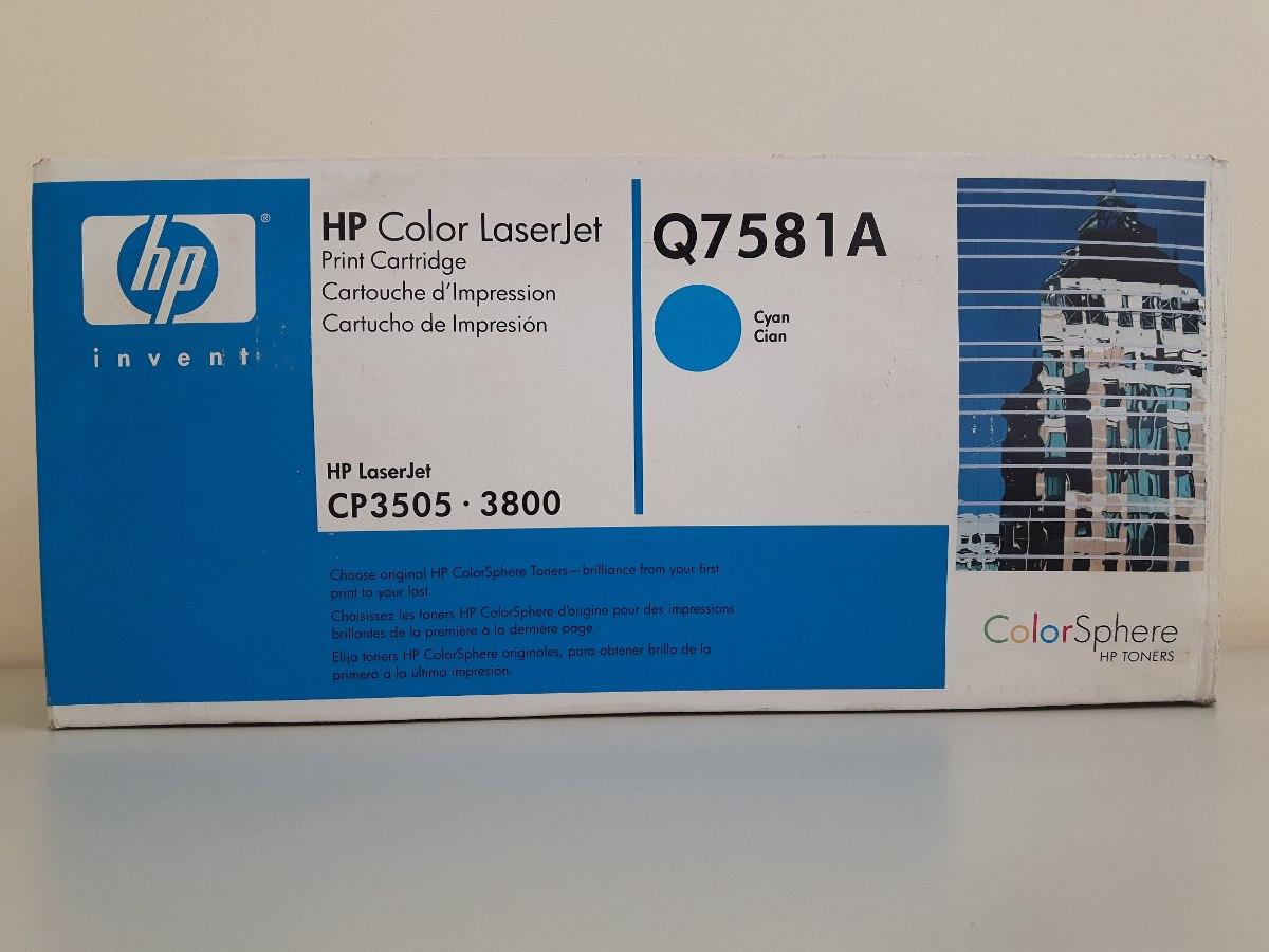 Genuine HP 503A Cyan Toner Cartridge Q7581A