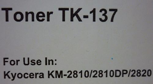 toner kyocera genérico kt-137 suministros fauca