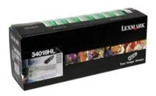 toner lexmark 34018hl negro p/ imp. e330, e332 original