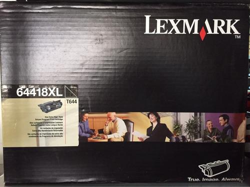 toner lexmark t644 64418xl original caja abierta