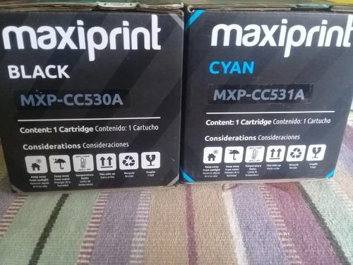 toner marca maxiprint totalmente nuevo, 304 a cyan y black