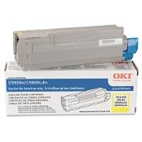 toner oki amarillo para impresora c5500 c5650 c5800ldn 43324