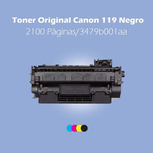 toner original canon 119 negro, 2100 páginas/3479b001aa
