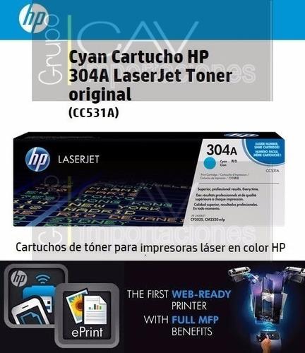 tóner original hp 304a laserjet cc530a cc531a cc532a cc533a