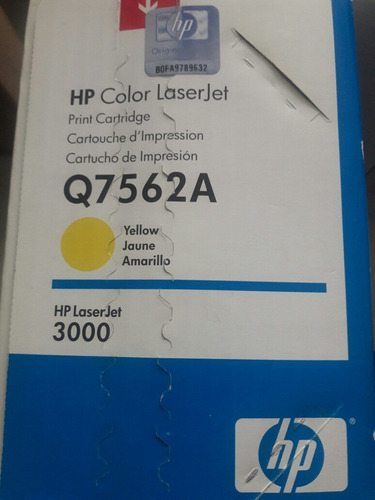 toner original hp q7562a amarillo 314 laserjet 2700 3000