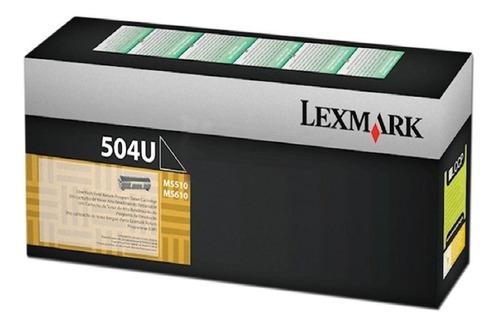toner original lexmark 504u ms510 ms610 ultra cap. backup