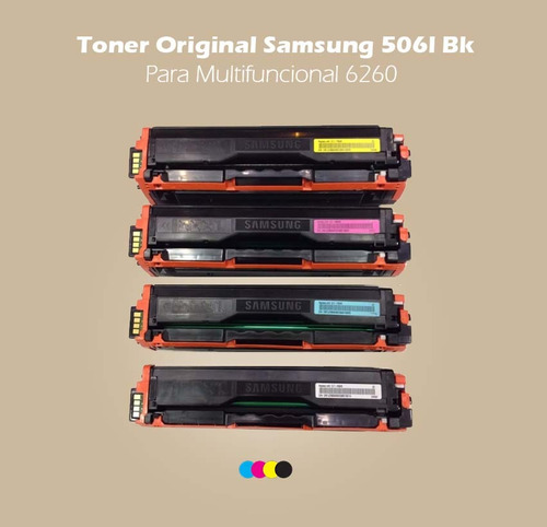 toner original samsung 506l bk para multifuncional 6260