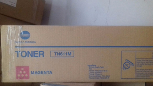 toner original tn611m para bizhub c-451 konica minolta