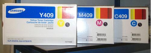 toner samsung 409 clt-409 originales cyan - magenta - yellow