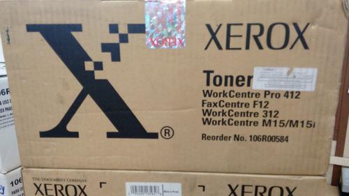 toner xerox 106r00584 workcentre pro 412 original vencido
