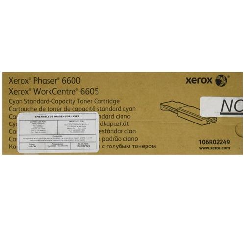 toner xerox 106r02249 cyan para wc6605 ph6600 +c+