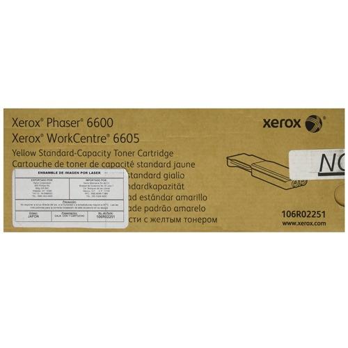 toner xerox 106r02251 amarillo para wc6605 ph6600 +c+