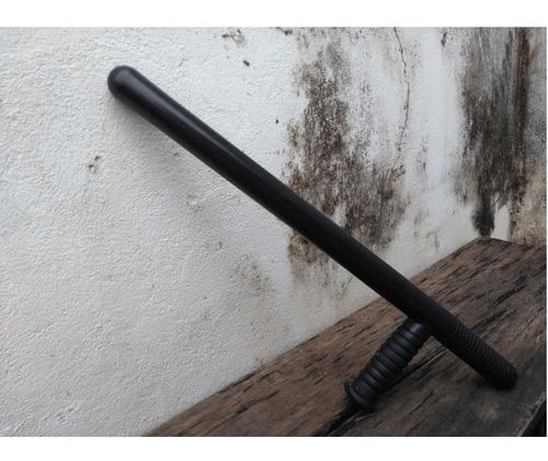 tonfa vigilante policial segurança em polímero bélica preto
