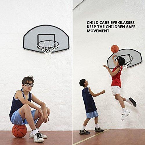 acb5935755 Tongshop Niños Baloncesto Gafas Lente Transparente Adolesce ...
