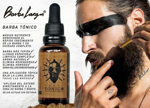 tónico barba larga resultados asegurados crecimiento notorio