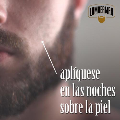 tónico barba lumberman, crecimiento barba, envio gratis,
