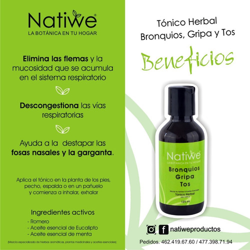 tonico herbal bronquios natiwe 125 ml
