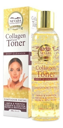 tonico limpiadr facial de colageno revitaliza e hidrata 180m