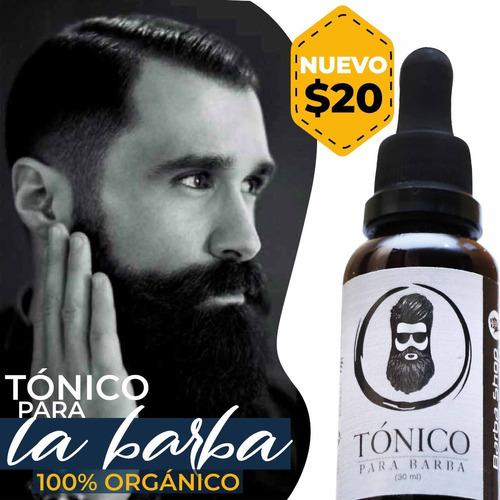 tonico organico para barba