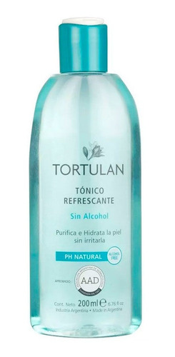 tonico refrescante sin alcohol tortulan x 200 ml