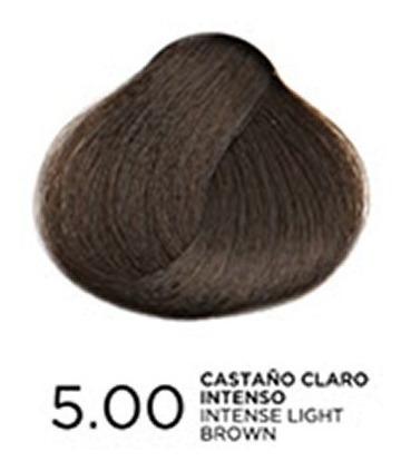 tono 5.0 castaño claro intenso, tratamiento en coloración bp