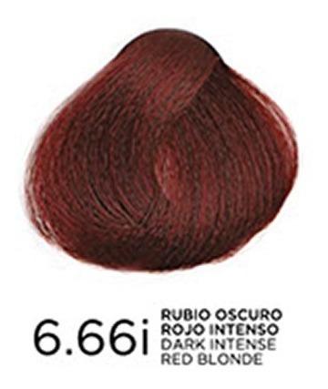 tono 6.66i rubio oscuro rojo intenso en coloración bp