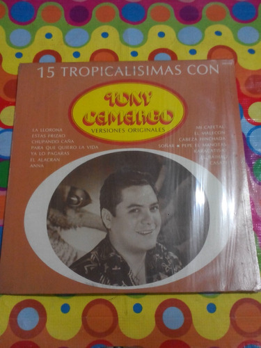 tony camargo lp tropicalisimas versiones originales 1986