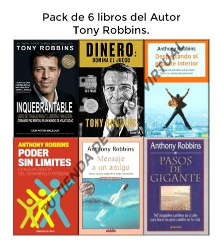 tony robbins- pack de 5 libros