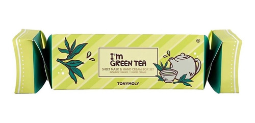tonymoly i´m green tea box set - mascarilla y crema de manos