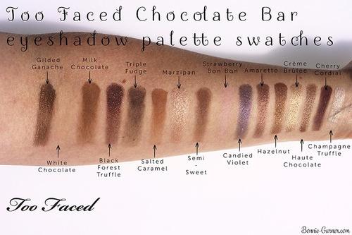 too faced chocolate bar paleta sombras 16 tonos promo