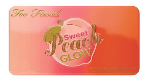 too faced - sweet peach glow - highlighting palette