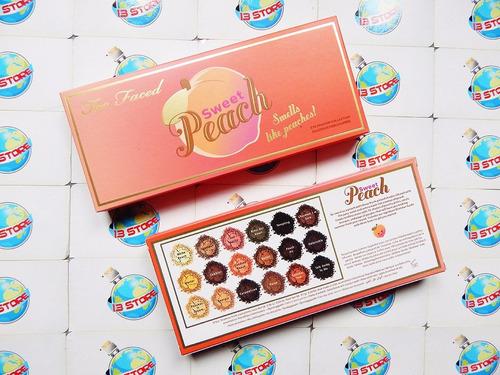 too faced sweet peach paleta sombras 18 tonos promo