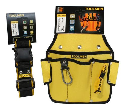 toolmen t90 cartuchera portaherramientas con cinturon t95