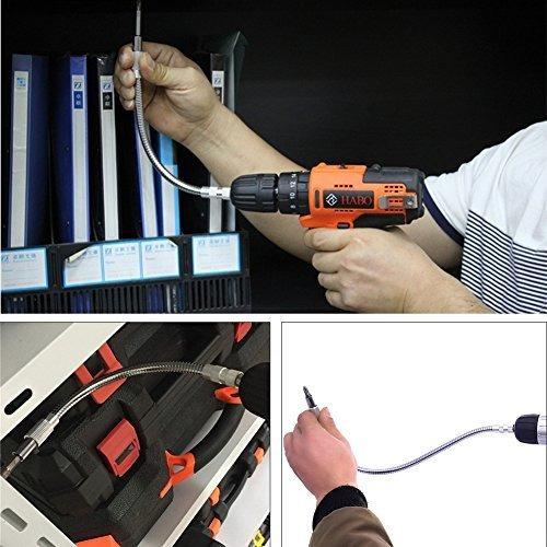 tooltoo soporte de broca de extension flexible para destorni