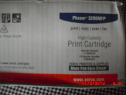 tooner fotocopiadora xerox mod. phaser 3200 mfp