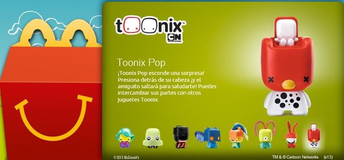 toonix pop nuevo mc donalds 2013