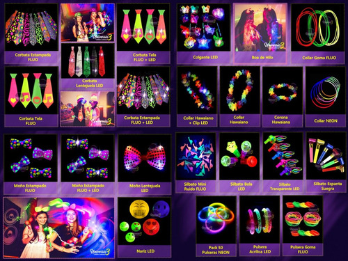 top 250pers500art maquillajefluo combo cotillon luminoso led