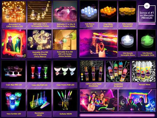 top 300 art. combo cotillon luminoso led neon fluo carioca