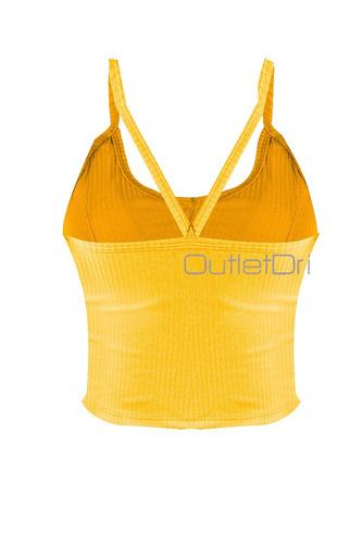 top blusa cropped alcinha canelado bojo botão frontal verão