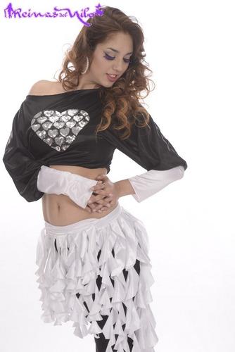 top corazon lentejuelas danza arabe bellydance