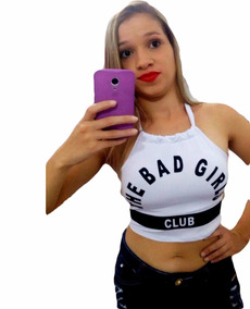 bb5c7245d3 Cropped Bad Cat Tamanho U - Camisetas e Blusas Cropped no Mercado ...