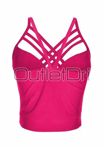 top cropped blusas femininas tirinhas triplas cruzadas 2017