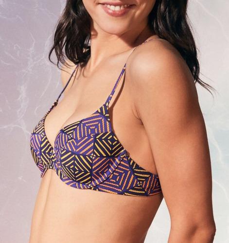 top de bikini color morado marca out from under