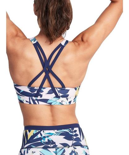 top deportivo mujer sujetador tiras cruzado azul old navy
