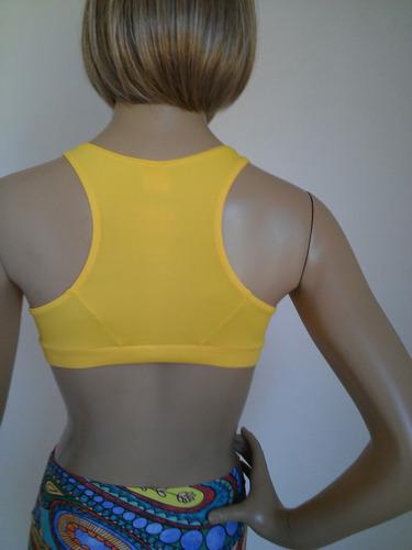top fitness  amarelo tamanho p afrodite
